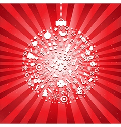 Christmas Ball From Icons vector image