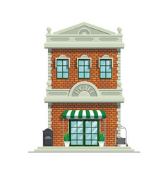 classic hotel building vector image
