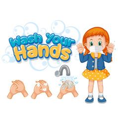 Coronavirus poster design for wash your hands vector