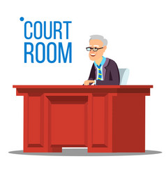 courtroom old judge in courtroom court vector image