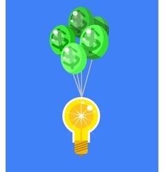 Creative idea with light lamp vector