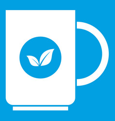cup of tea icon white vector image