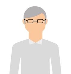Cute grandfather isolated icon design vector