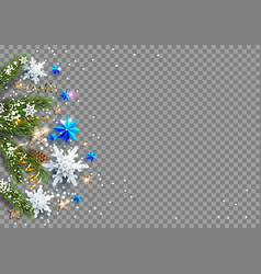 decorations baubles stars snowflakes vector image