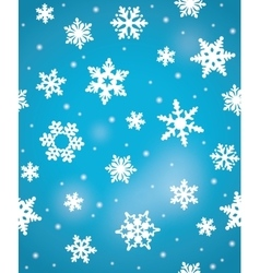 Decorative blue christmas seamless pattern with vector image