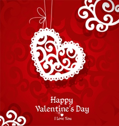 Delicate abstract Valentine card vector image vector image