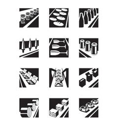 Different assembly lines vector image