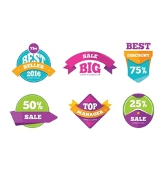 Discount tags banners and stickers vector image