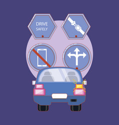 Drive safely design ilustration vector