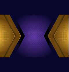 elegant gold and purple luxury background vector image