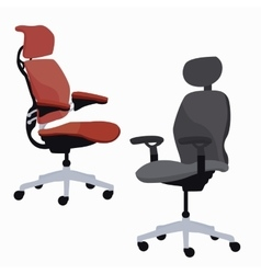 Ergonomic chair office furniture adjustable vector
