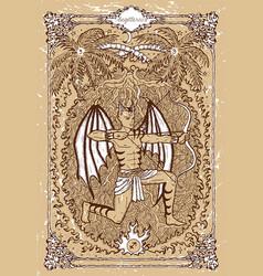 Fantasy zodiac sign sagittarius or archer vector