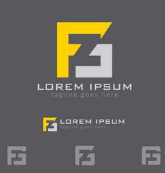 fg letter based symbol vector image