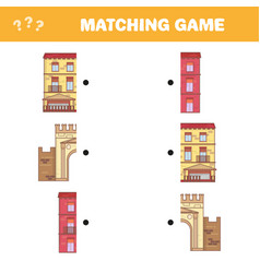 Find right pair for each part educational game vector