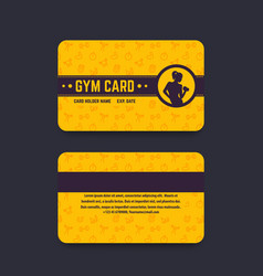 Fitness club gym card template vector
