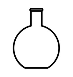 flat bottom flask beaker line icon outline sign vector image