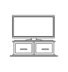 flat television icon vector image