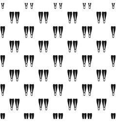 Flippers pattern simple style vector