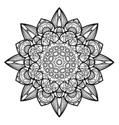 Flower mandala vintage decorative elements vector