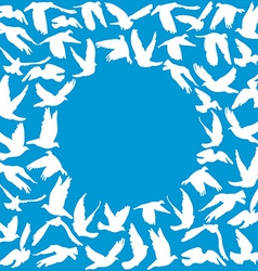 Frame for your text Flying dove for peace concept vector