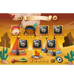 Game template with indians in background vector