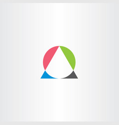 Geometry math logo triangle and circle icon vector