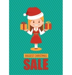 Giggest Christmas sale holiday banner vector