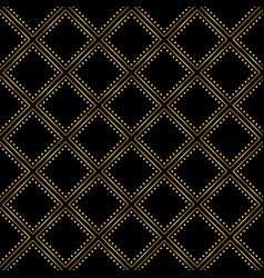 gold and black pattern seamless luxury background vector image