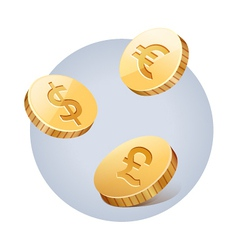 Golden falling money vector image