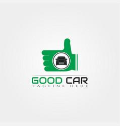Good car icon templatecreative logo design element vector