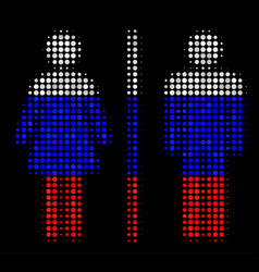 Halftone russian toilet persons icon vector