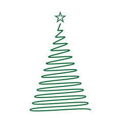 Hand drawn christmas tree template for your design vector