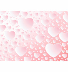 happy valentines day card with pattern hearts vector image