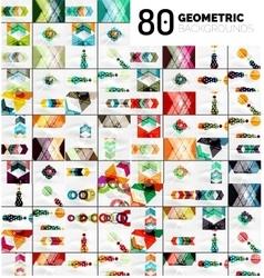 Huge mega collection geometric shape abstract vector