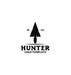 Hunter logo design with using arrow head icon vector