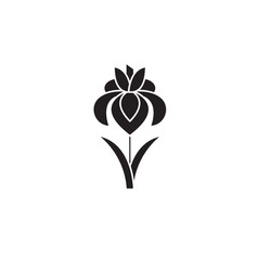 iris black concept icon iris flat vector image