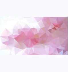 Irregular polygonal background cherry pink vector