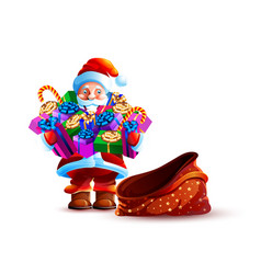 isolated character santa vector image