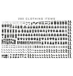isolated silhouettes men and women clothing vector image