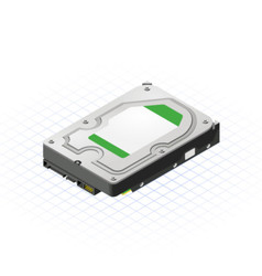 Isometric Hard Disk vector