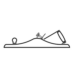 Jack plane smoothing plane carpenter tool symbol vector
