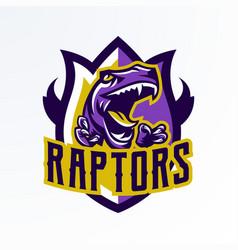 Logo badge sticker dinosaur emblem and its vector