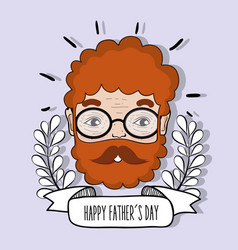 man face to celebrate father day design vector image