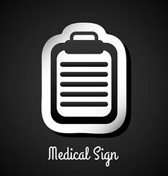 medical sign design vector image