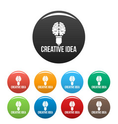 Mental creative idea icons set color vector