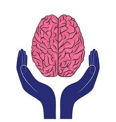 mental health sign human brain as concept vector image