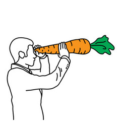 Metaphor benefit vitamin a in carrot vector