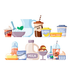 milk product healthy natural fresh farm dairy vector image