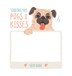 Pugs and kisses vector