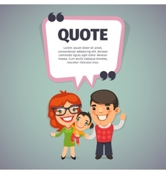 Quote with Happy Family vector image